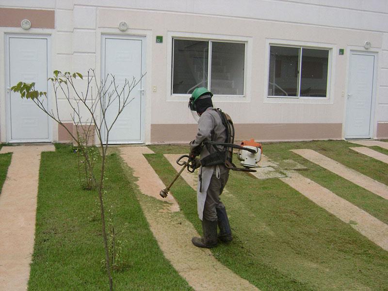 Execução e manutenção de áreas verdes